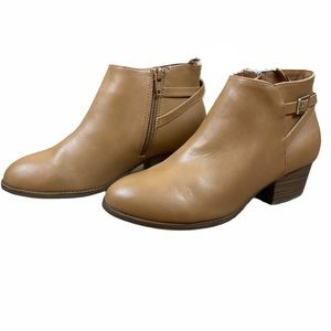 NWT Girls Tan Brown Ankle Booties Size 3
